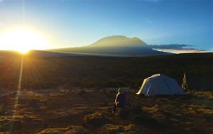Sunset over Kilimanjaro
